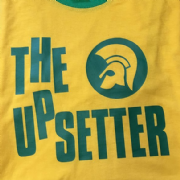 Upsetter T-shirt Yellow with green trim
